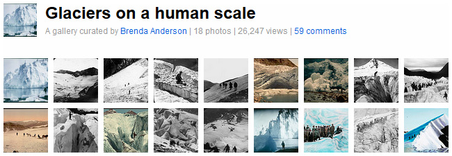 Gallery: Glaciers on a human Scale